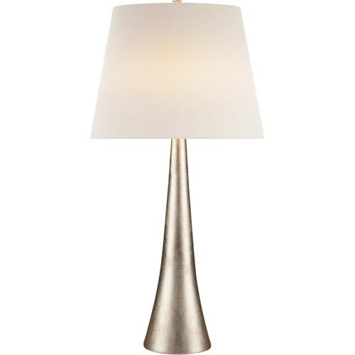 AERIN Dover 35 inch 150 watt Burnished Silver Leaf Table Lamp Portable Light
