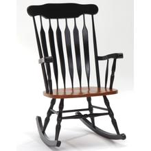 BLACK/CHERRY Windsor Rocker    (BC1890)