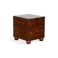 Santa Fe Trunk End Table w/ Storage Drawer