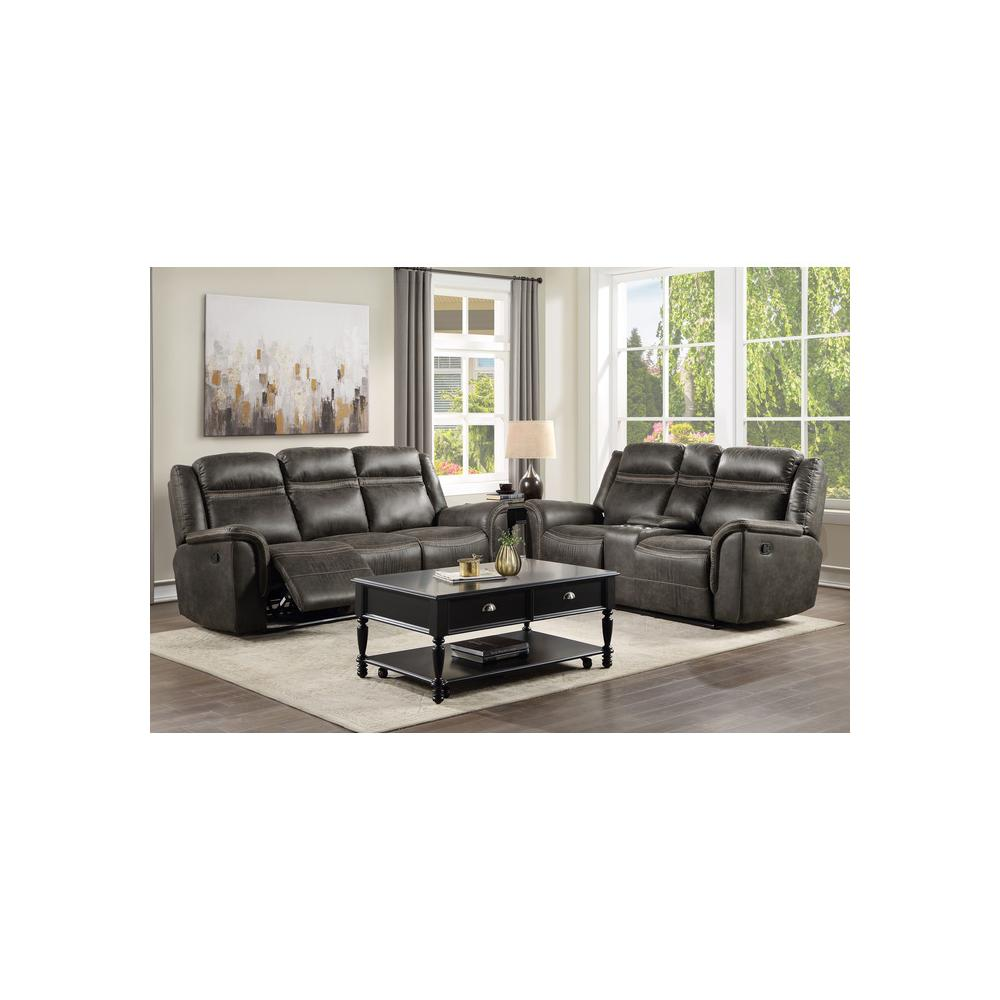 Product Image - Double Reclining Sofa with Drop-Down Cup Holders