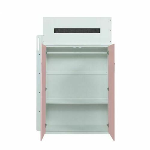 ACME Nerice Loft Bed - 38040 - White & Pink