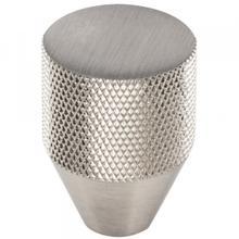 Beliza Conical Knurled Knob 1 Inch Brushed Satin Nickel