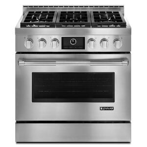 "JennAirPro-Style® 36"" Gas Range with MultiMode® Convection Stainless Steel"