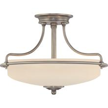 View Product - Griffin Semi-Flush Mount in Antique Nickel