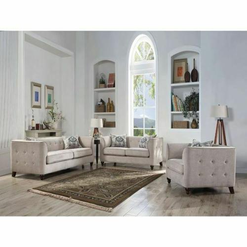 ACME Cyndi Chair w/1 Pillow - 52057 - Tan Fabric