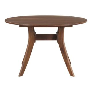 See Details - Florence Round Dining Table Walnut