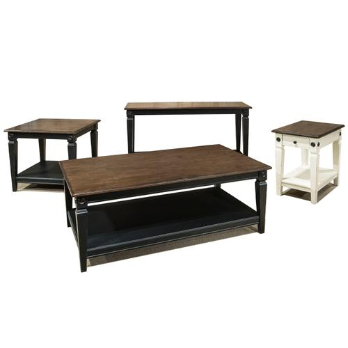 Glennwood Chairside Table  Black & Charcoal