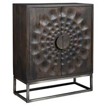 2-8302 Circle Carved Door Cabinet
