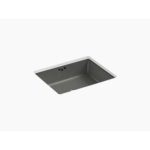 "Thunder Grey 19-3/4"" X 15-5/8"" X 6-1/4"" Undermount Bathroom Sink"