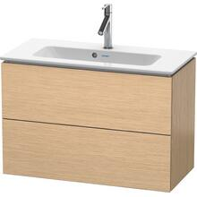 Vanity Unit Wall-mounted Compact, Brushed Oak (real Wood Veneer)
