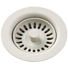 Elkay Polymer Drain Fitting with Removable Basket Strainer and Rubber Stopper Bisque