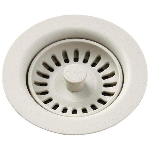 Elkay - Elkay Polymer Drain Fitting with Removable Basket Strainer and Rubber Stopper Bisque