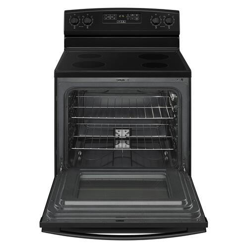 30-inch Electric Range with Extra-Large Oven Window Black
