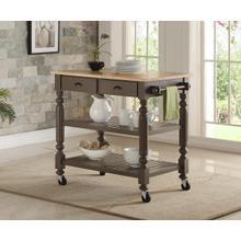 See Details - Payson Grey Kitchen Cart