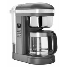See Details - 12 Cup Drip Coffee Maker with Spiral Showerhead and Programmable Warming Plate - Matte Charcoal Grey