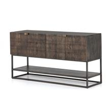 Kelby Small Media Console-crvd Vntg Brwn