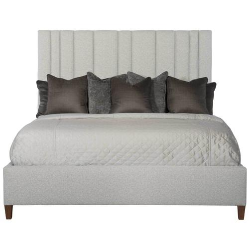King-Sized Modena Upholstered Bed in Espresso