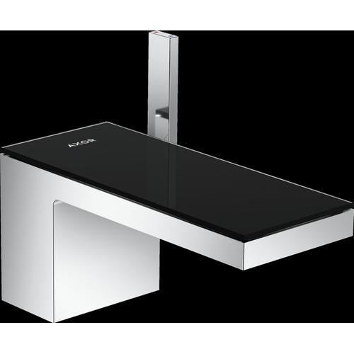 AXOR - Chrome / Black Glass Single-Hole Faucet 70, 1.2 GPM