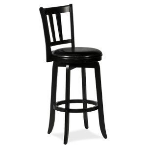Presque Isle Swivel Bar Height Stool - Black