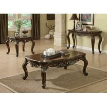 See Details - ACME Remington Coffee Table - 80064 - Brown Cherry