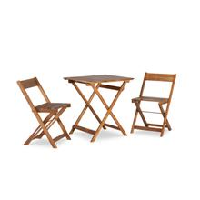 Nantucket 3pc Bistro Set Square Table