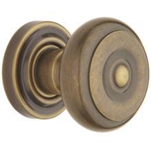 Satin Brass and Black 5005 Estate Knob