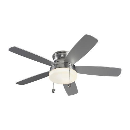 """52"""" Traverse Semi-Flush Fan - Brushed Steel"""