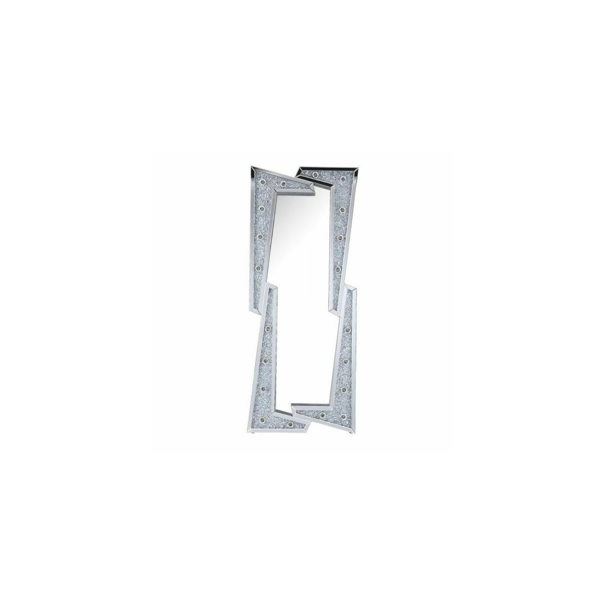 ACME Noralie Wall Decor - 97757 - Glam - LED Light, Mirror, Glass, MDF, Faux Diamonds (Acrylic) - Mirrored and Faux Diamonds