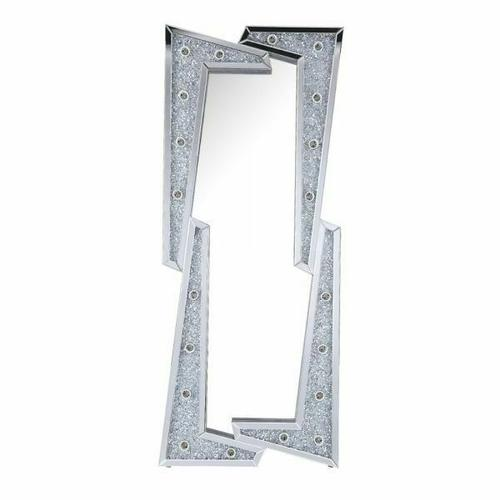 Acme Furniture Inc - Noralie Accent Floor Mirror by Acme, Includes all Vanity light Bulbs