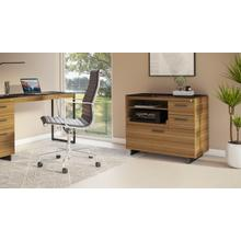 View Product - Sequel 20 6117 Multifunction Cabinet in Natural Walnut Black