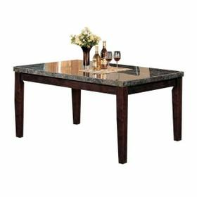 ACME Danville Dining Table - 07058 - Black Marble & Walnut