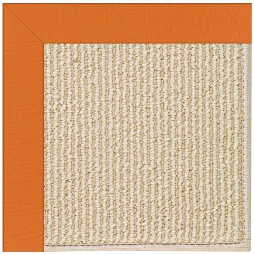 Capel Rugs - Creative Concepts-Beach Sisal Canvas Tangerine - Rectangle - Custom