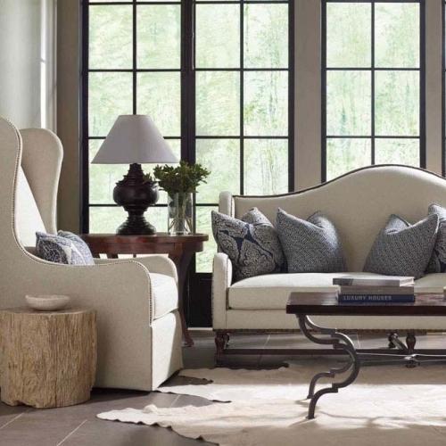 Bernhardt Interiors - Petrified Wood Side Table