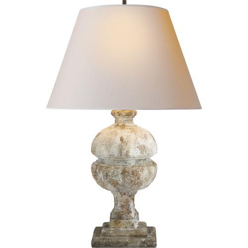 Alexa Hampton Desmond 26 inch 150 watt Antique Gilded WoodGarden Stone Decorative Table Lamp Portable Light