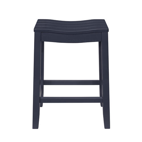 Fiddler Backless Wood Counter Height Stool, Navy
