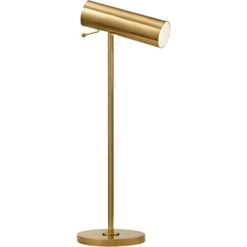 AERIN Lancelot 21 inch 4.5 watt Hand-Rubbed Antique Brass Pivoting Desk Lamp Portable Light