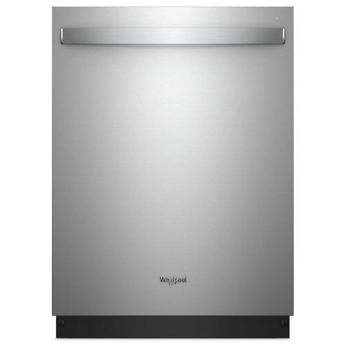 Whirlpool - Stainless Steel Tub Dishwasher with TotalCoverage Spray Arm Fingerprint Resistant Stainless Steel