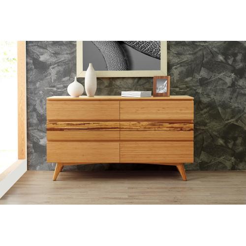 Azara Six Drawer Double Dresser, Caramelized