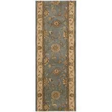 See Details - Nourison 2000 2210 Blue Runner Broadloom Carpet