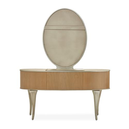 Vanity/desk W/mirror 2pc