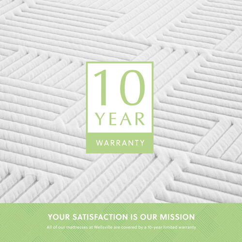 Wellsville 14 Inch Latex Hybrid Mattress Split Cal King