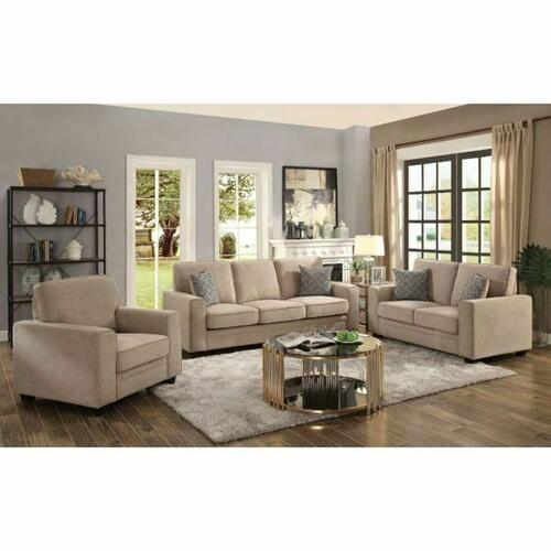 ACME Catherine Sofa w/2 Pillows - 52295 - Khaki Fabric