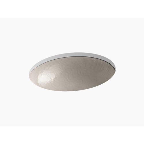 Opaque Doe Glass Undermount Bathroom Sink In Opaque Doe