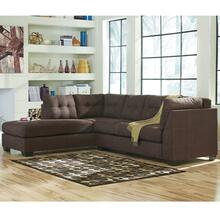 Benchcraft Maier Sectional with Left Side Facing Chaise in Walnut Microfiber