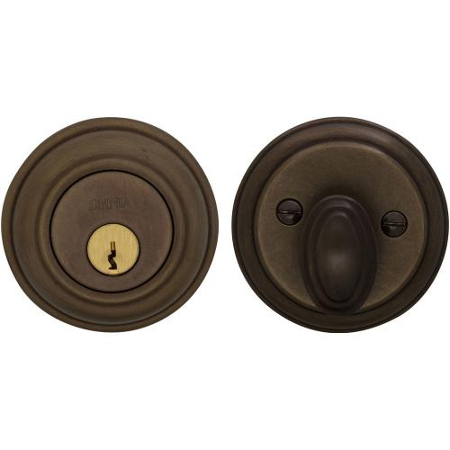 Traditional Auxiliary Deadbolt Kit in (US5A Antique Bronze, Unlacquered)