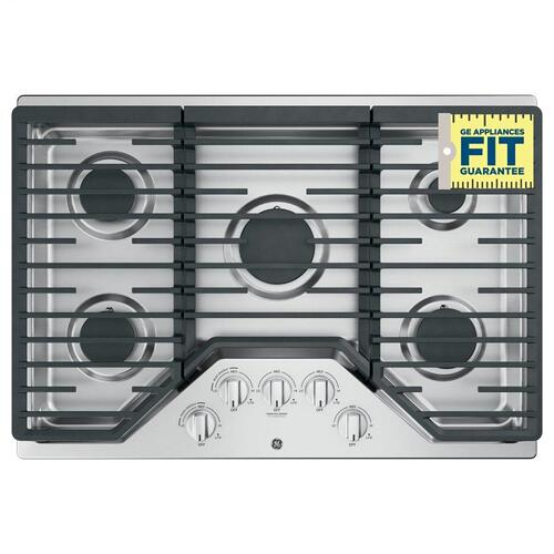 "GE® 30"" Built-In Gas Cooktop with 5 Burners and Dishwasher Safe Grates"