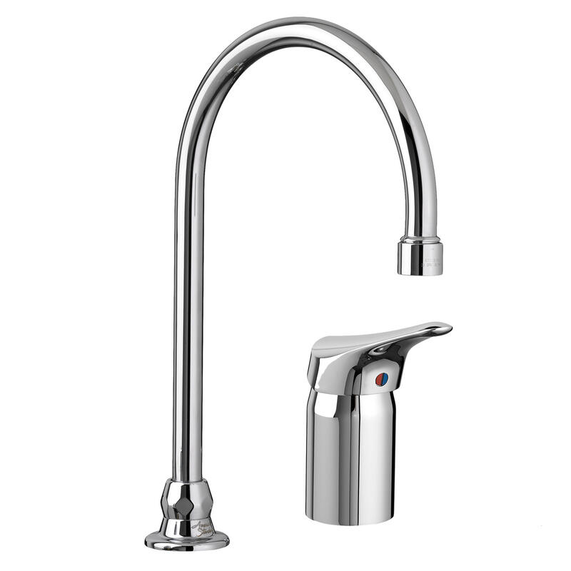 6114380002 In Polished Chrome By American Standard In Calgary Ab Monterrey Single Control Gooseneck Kitchen Faucet With Remote Valve Polished Chrome