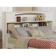 Newport Bookcase Headboard Full White