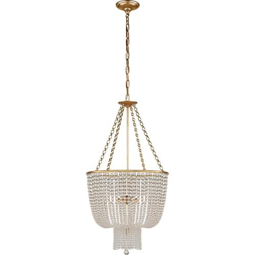 AERIN Jacqueline 4 Light 19 inch Hand-Rubbed Antique Brass Chandelier Ceiling Light