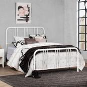 Dakota Full Bed With Frame, Soft White